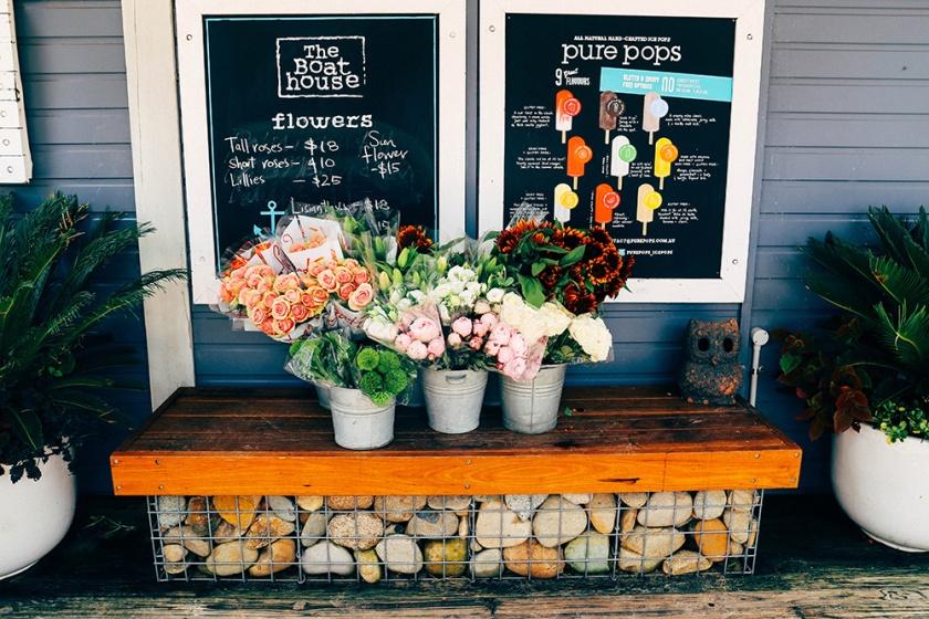 boathouse Balmoral beach cafe menu boards