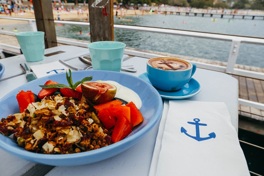 boathouse Balmoral Beach whale beach granola