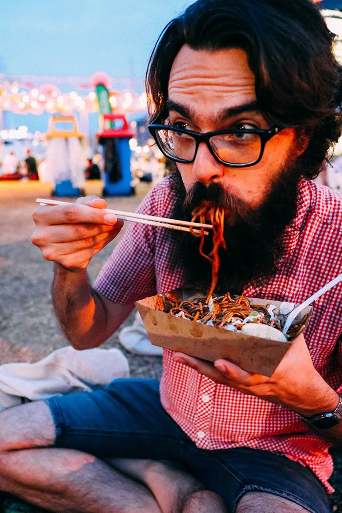 Lunar Markets Sydney yaki soba noodles