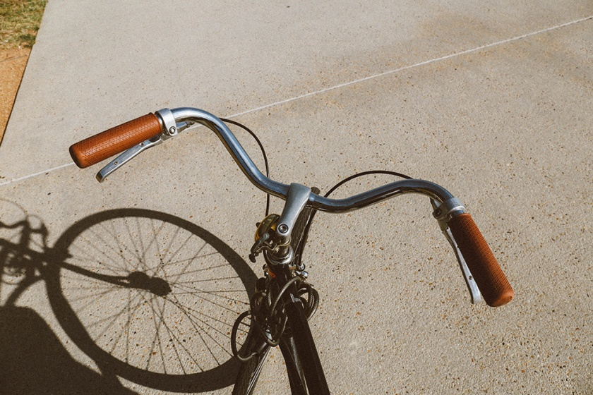 Lake Burley Griffin Canberra bike riding handle bars