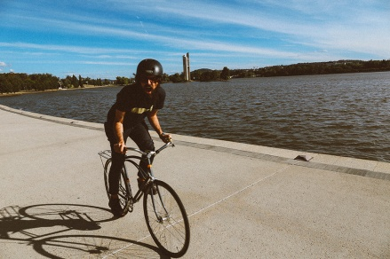 Lake Burley Griffin Canberra bike riding