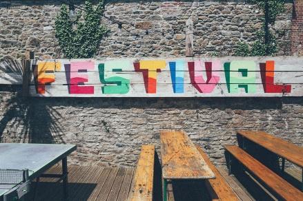 Artist Residence Penzance Cornwall courtyard festival