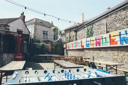 Artist Residence Penzance Cornwall courtyard