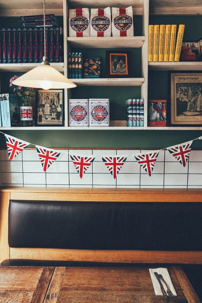 Axminster River Cottage Canteen England flags