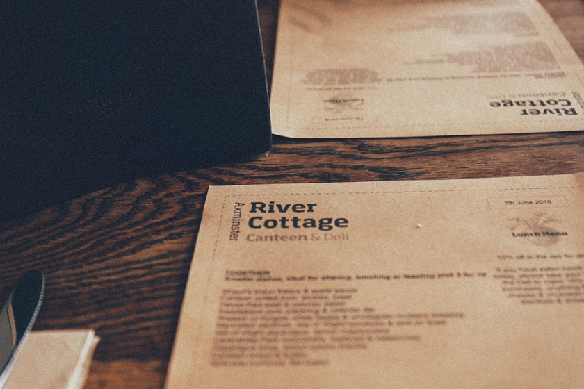 Axminster River Cottage Canteen England menu