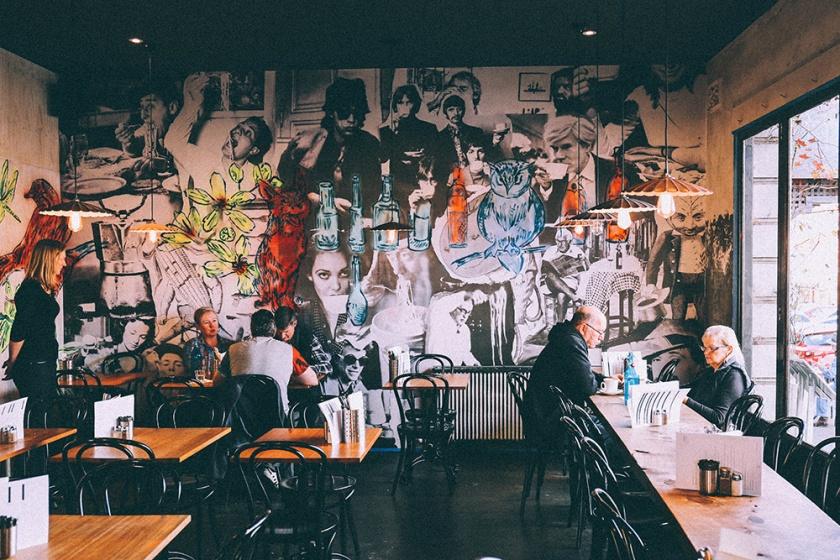 Daylesford food cafe koukla Bromley wall