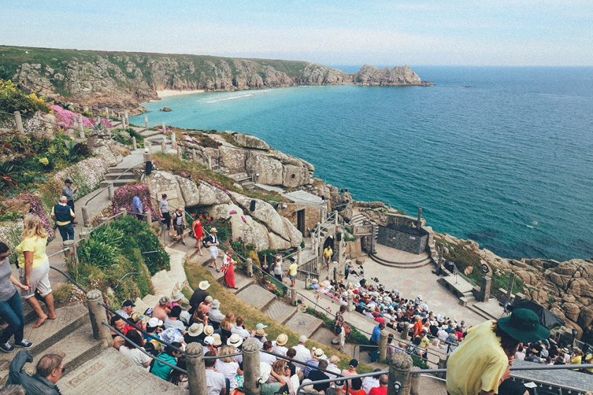Minack Theatre Cornwall Penzance crowd blog