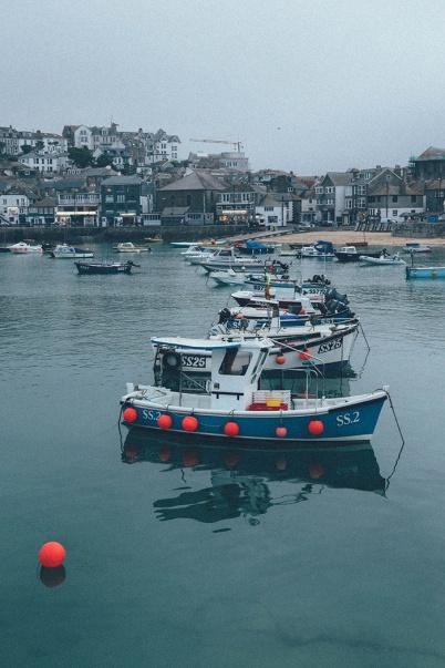 St Ives Cornwall English Coast boats