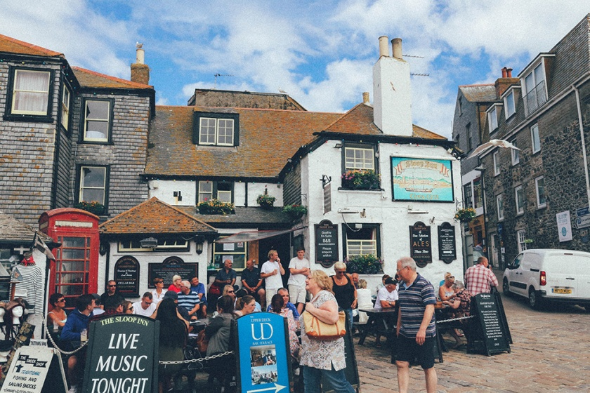 St Ives Cornwall English Coast Pub day