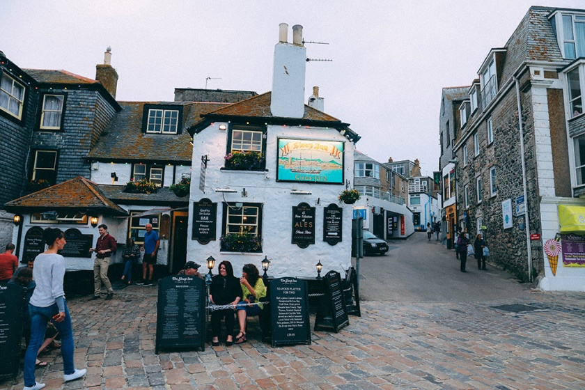 St Ives Cornwall English Coast pub