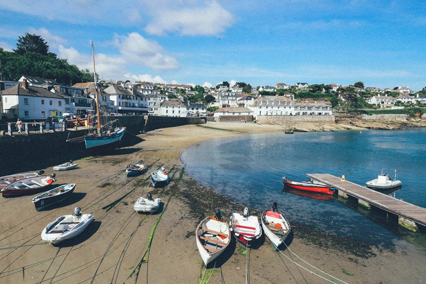 St Mawes Cornwall England Boats and Bay