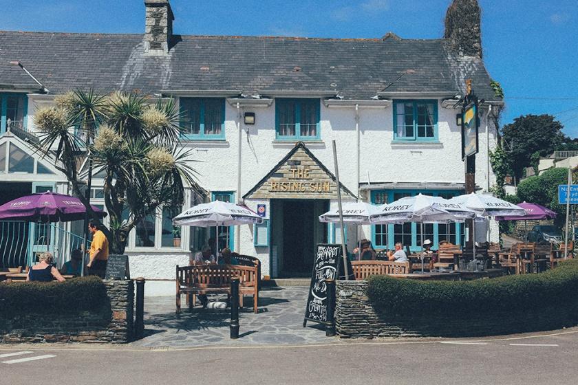 St Mawes Cornwall England Rising Sun Pub