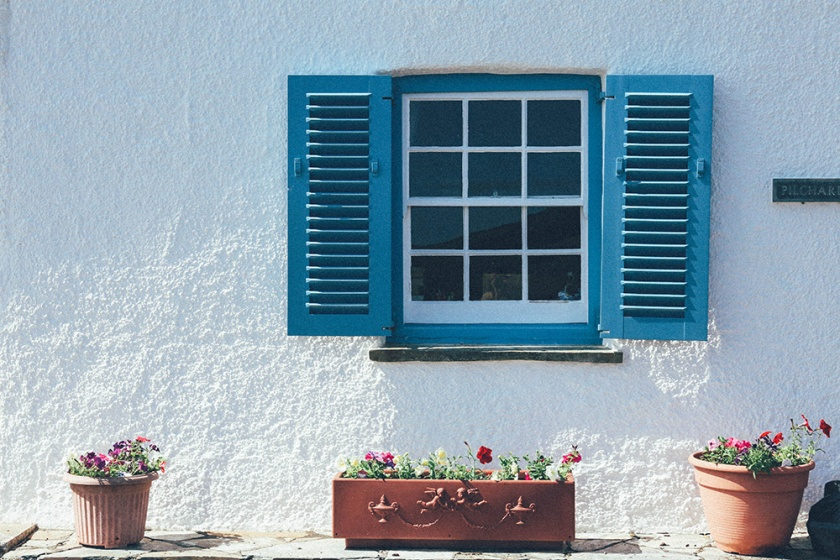 St Mawes Cornwall England Shutters