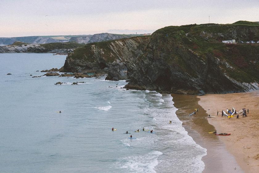 Newquay beach Cornwall England 3