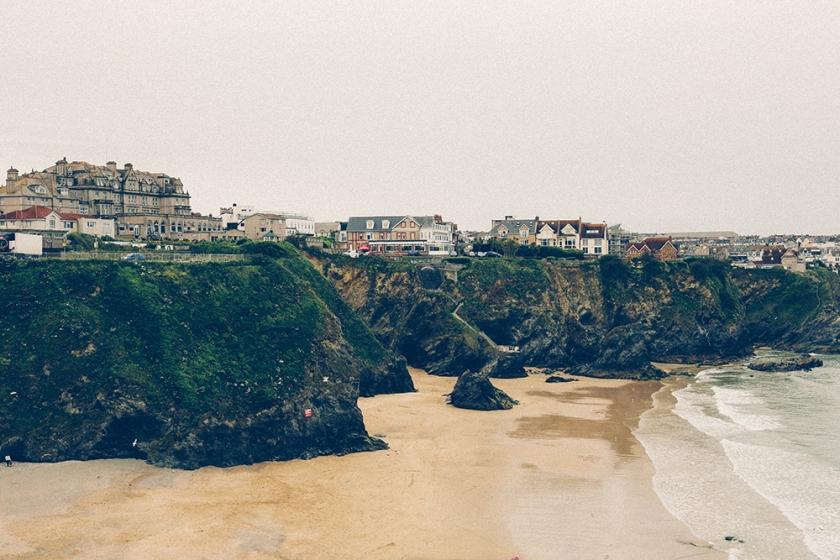 Newquay beach Cornwall England