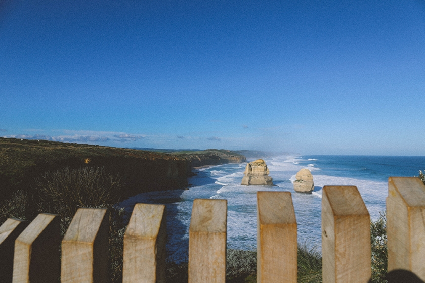 Twelve Apostles Great Ocean Road Victoria Port Campbell fence