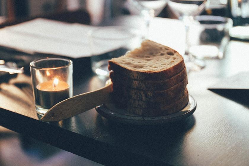 Stockholm Gro Restaurant Vegetarian bread