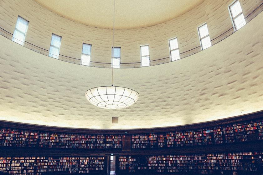 Stockholm Library Stadsbibliotek Books Literary ceiling
