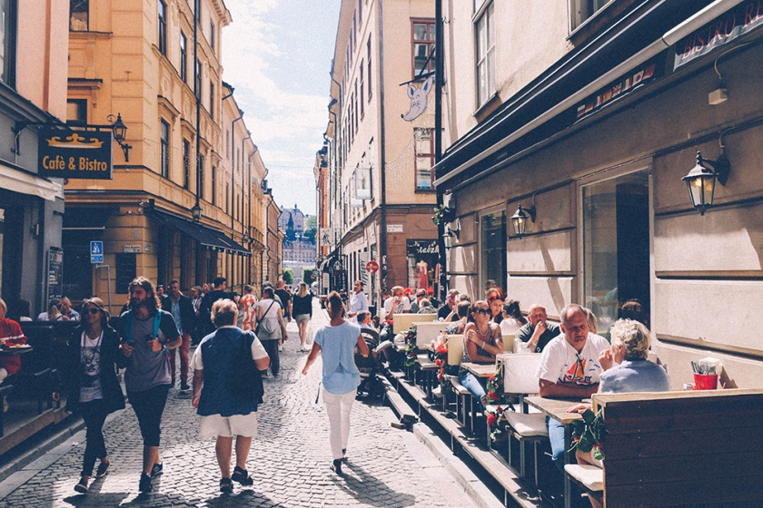 Stockholm Old Town side street Gamla Stan