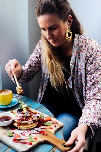 Sydney Cafe Cuppa Flowers Ricotta Hotcakes Katie Mayor