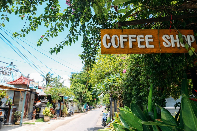 Nusa Lembongan best islands bali indonesia Coffee shop