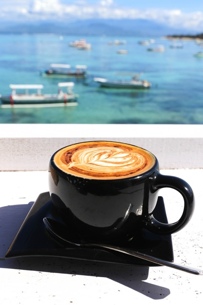 Nusa Lembongan the deck view coffee in paradise