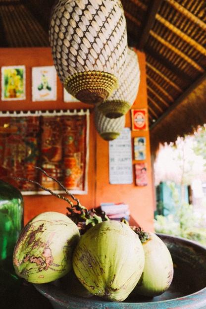Tigerlilys Nusa Lembongan restaurant cocnuts