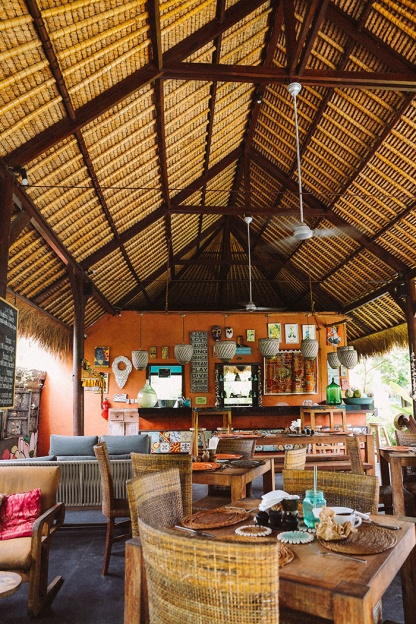 Tigerlilys Nusa Lembongan restaurant space hut
