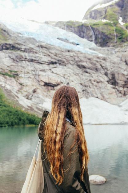 Fjaerland Norway Boyabreen glacier Katie