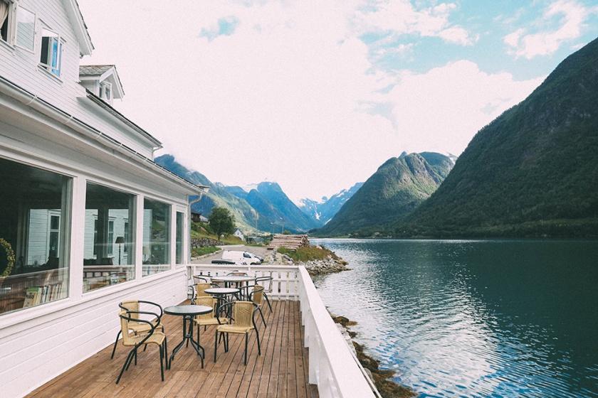 Norway Fjord Fjaerland Scandinavia Book Town Glacier Fjordstove Hotel