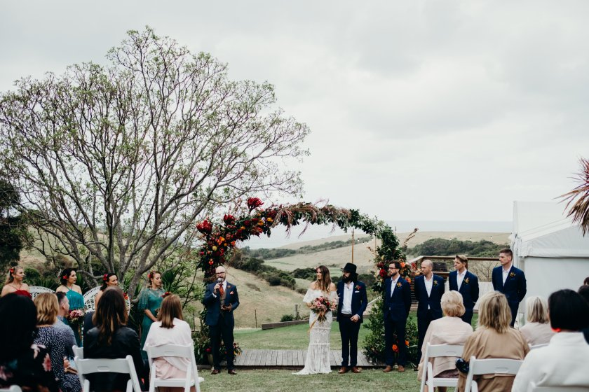 Australia best weddings folk + follow kiama Kate and Phil bush bank