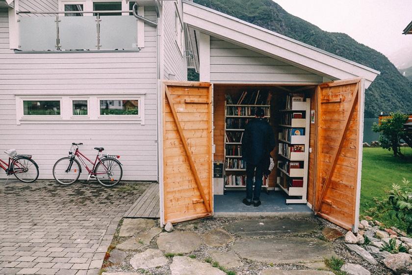 Norway Fjord Fjaerland Scandinavia Book Town Glacier