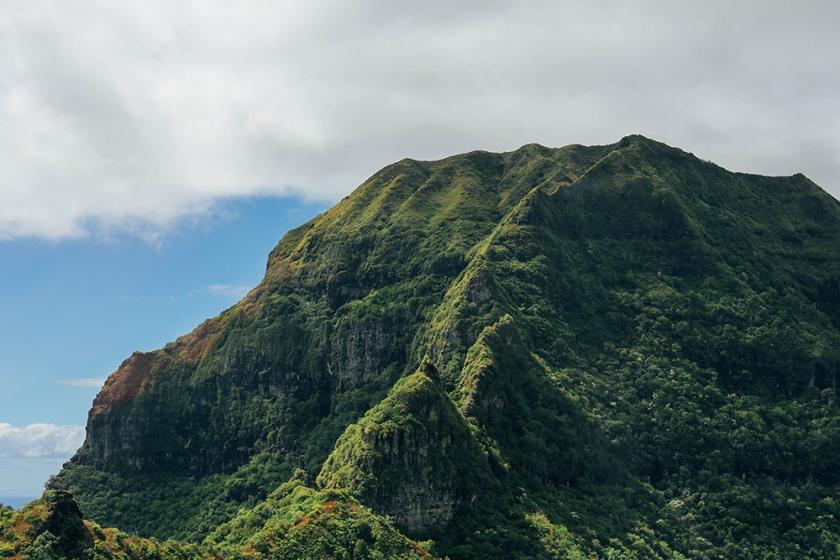 Helicopter Kauai Sunshine Hawaii mountain top
