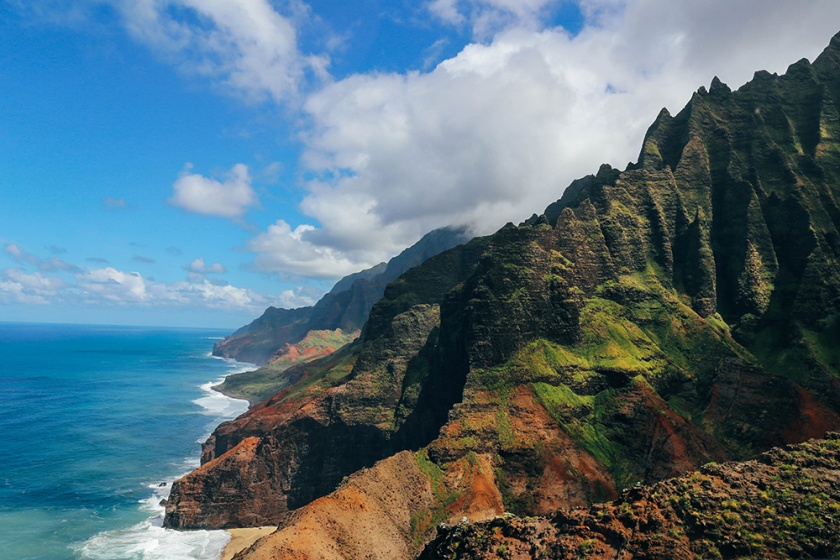 Helicopter tour Hawaii Kauai Sunshine napali coast