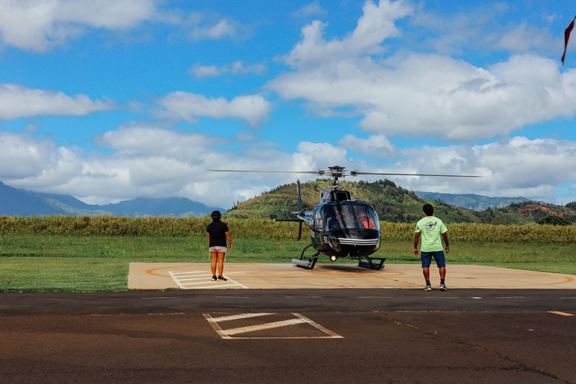 Helicopter Kauai Sunshine Hawaii_