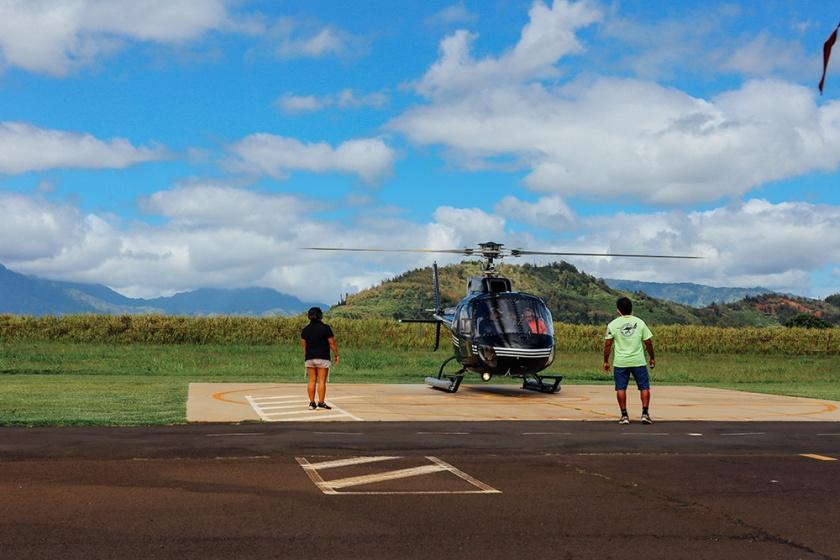 Helicopter Kauai Sunshine Hawaii_