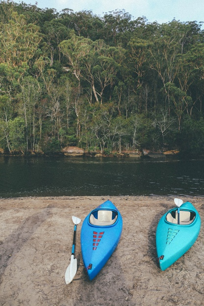 Berowra National Park Camping Sydney Crosslands Reserve kayaks
