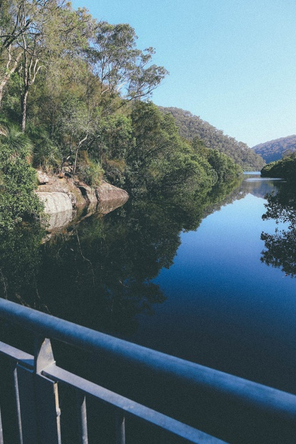Berowra National Park Sydney Crosslands Reserve walking bridge view