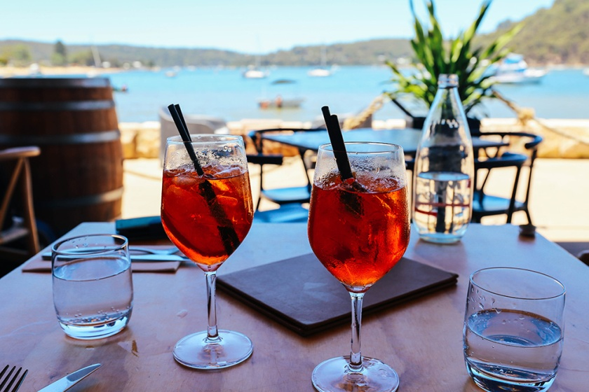 Sydney best ferry trips palm beach ettalong box on the water aperol