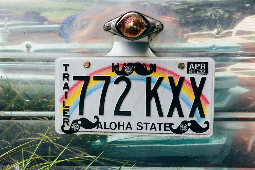 Kauai Hawaii blog fresh shave ice Phillip Marsden number plate