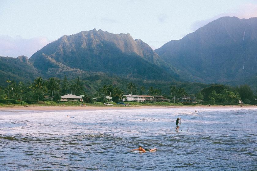 Kauai Hawaii Hanalei Bay paddle board