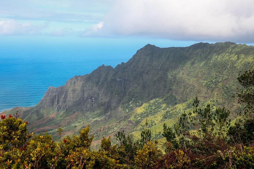 Kauai Hawaii Kalalau Lookout Koke'e State Park brighter