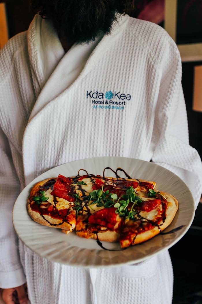 Kauai Hawaii Koa Kea Best Hotels Poipu Beach Room Service pizza