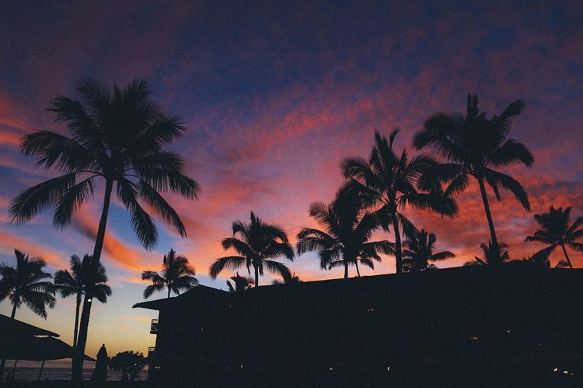 Kauai Hawaii Poipu Beach koa kea epic sunset