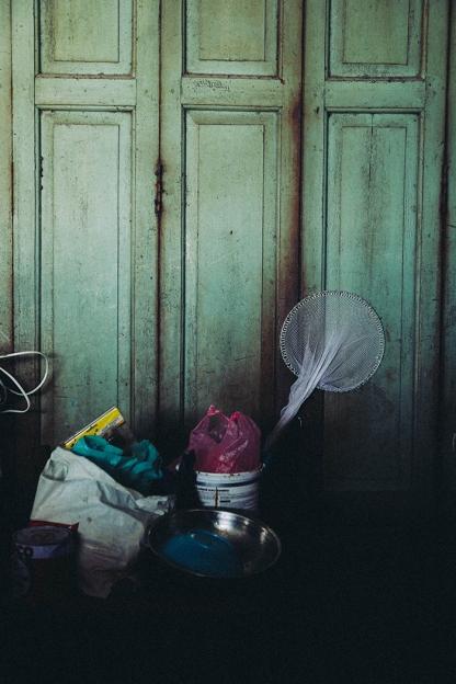 Bangkok backstreets fishing net