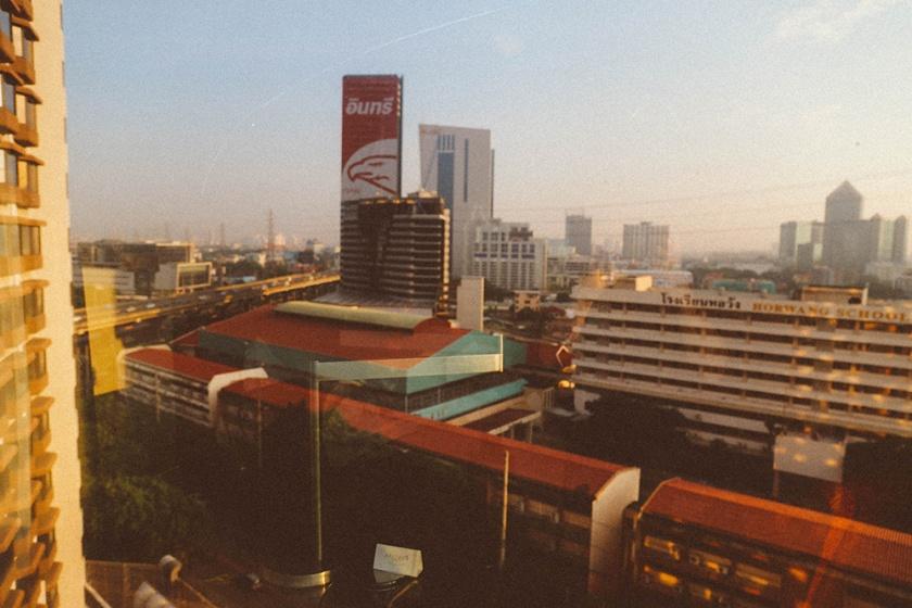 Bangkok thailand centara grand morning view_