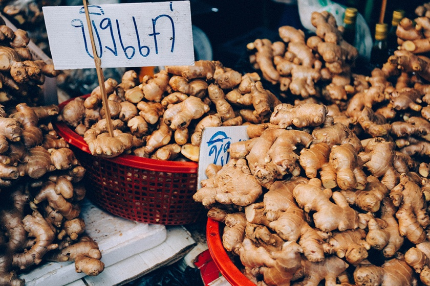 Bangkok thailand flower markets ginger