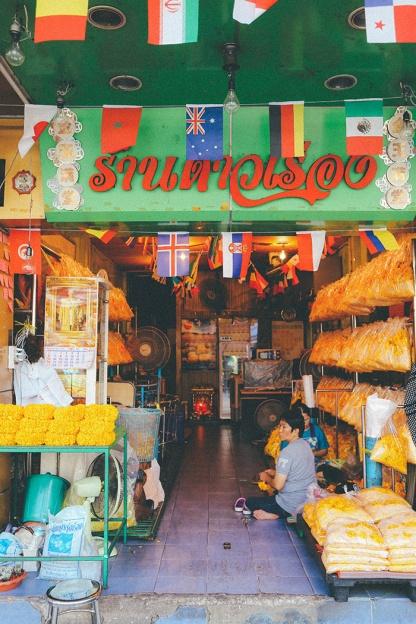 Bangkok thailand flower markets green shop