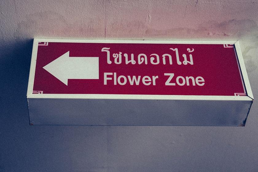 Bangkok thailand flower zone_