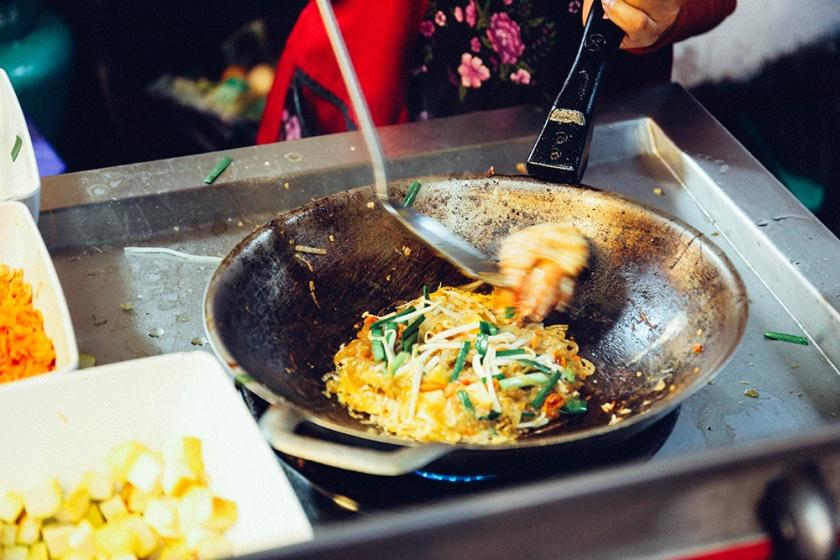 Bangkok thailand street food pad thai
